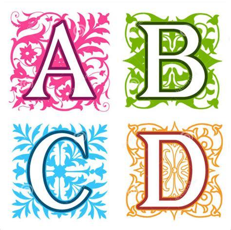 decorative block letters font 8 decorative alphabet letters free premium templates