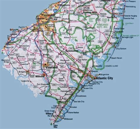 map of new jersey south jersey pictures to pin on