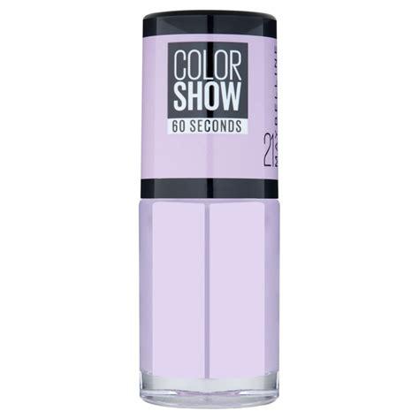 Maybelline Color Show maybelline color show nail 21 lilac wine at wilko
