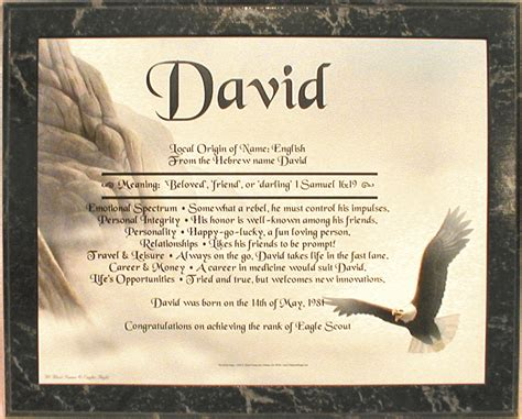 name meaning eagle gifts galore name meaning plaque