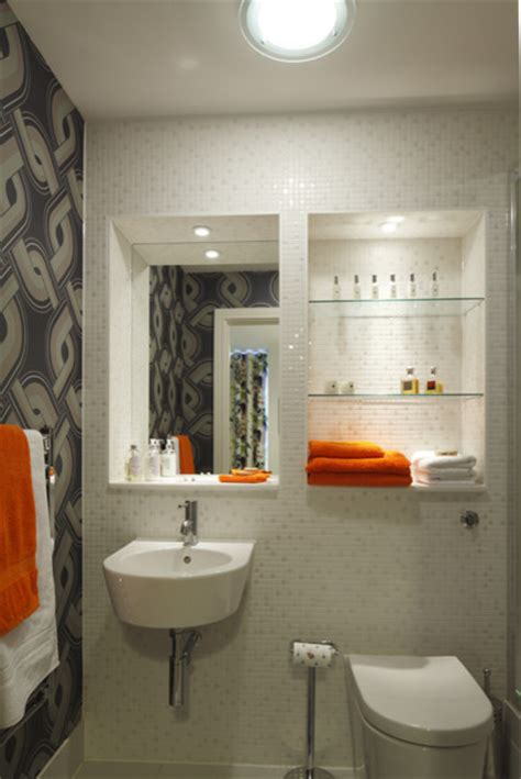 funky bathroom wallpaper ideas funky bathroom modern bathroom london by adrienne