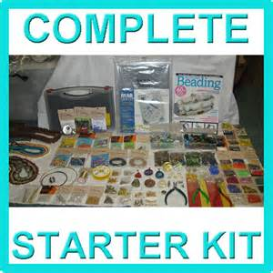 Beading And Jewelry Making - complete jewellery making kit starter pack with tools findings beads supplies ebay