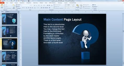 powerpoint quiz template free download powerpoint awesome questions answers powerpoint templates