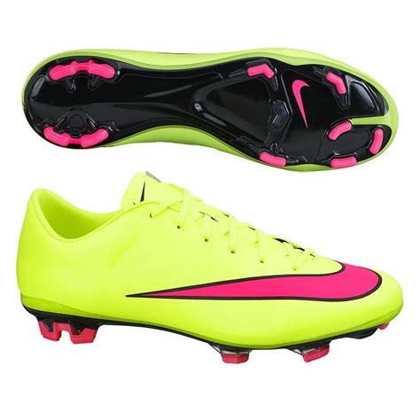 nike mercurial veloce ii fg soccer cleats volt hyper pink