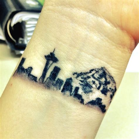 seattle skyline tattoo designs yep that may be the wrist tat i get of chicago skyline