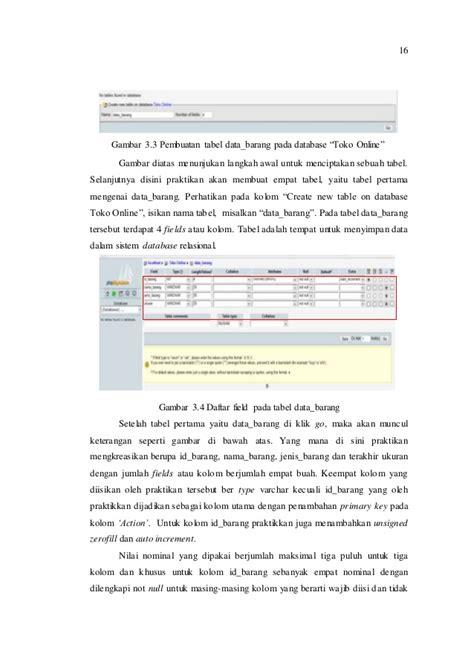 langkah membuat laporan praktikum laporan praktikum basis data modul iv membuat database