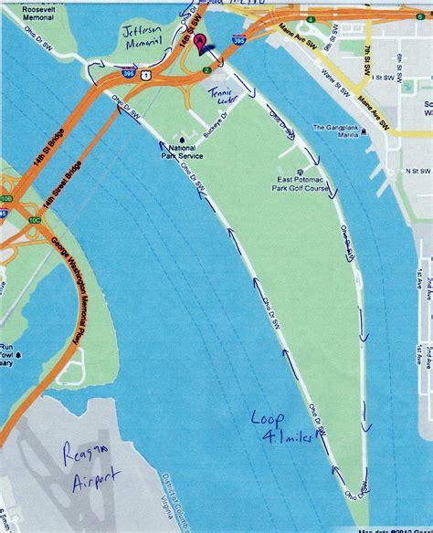 washington dc loop map active dc east potomac park loop
