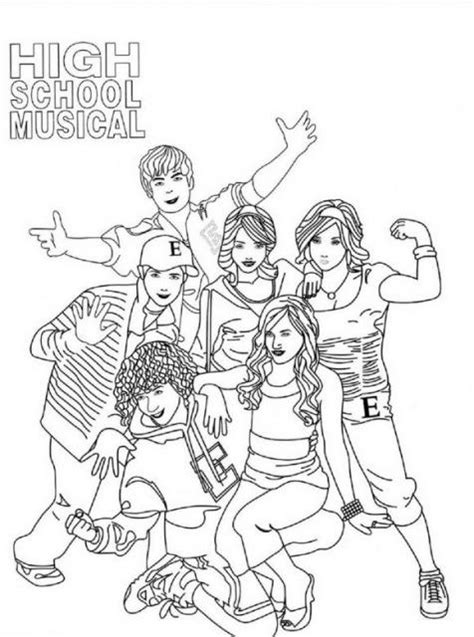 High School Musical Coloring Pages Printable Coloring Pages High School Coloring Pages