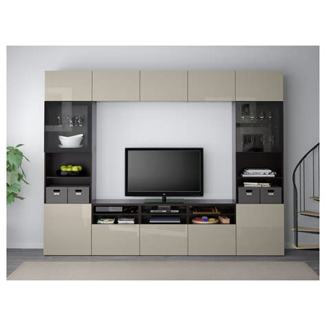 ikea besta media storage best 197 tv storage combination glass doors black brown