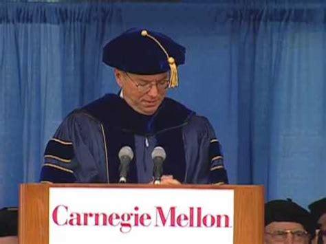 Carnegie Mellon Mba Graduation Day by Eric Schmidt S Carnegie Mellon Commencement