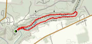 John Bryan State Park Map by Pittsburg Cincinnati Stage Coach And South Gorge Trail