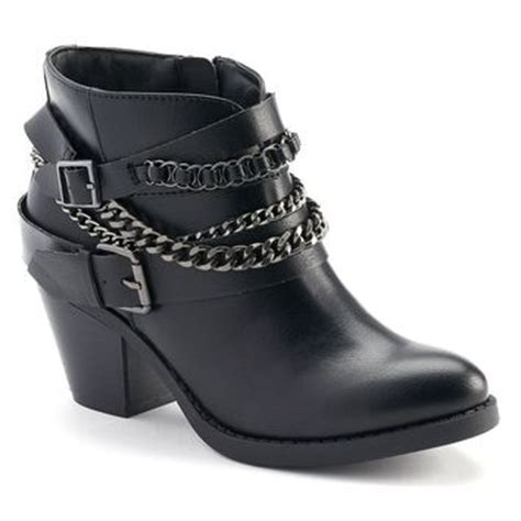 so ankle boots so s western heeled ankle boots from kohl s