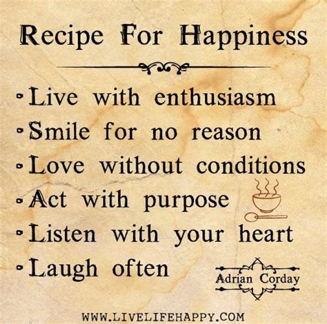 Recipe for Happiness | Quotes and Sayings | Pinterest