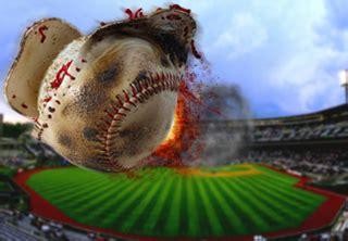 Home Run Baseball by Original Content R L R Hitting A Home Run One Pitch At