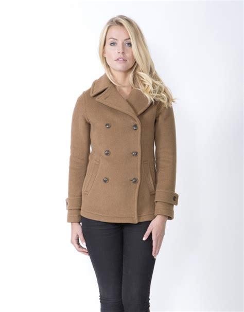 womens light brown pea coat brown wool pea coat womens tradingbasis