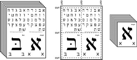 hebrew alphabet flash cards printable pdf aleph bet flashcards hebrew pinterest