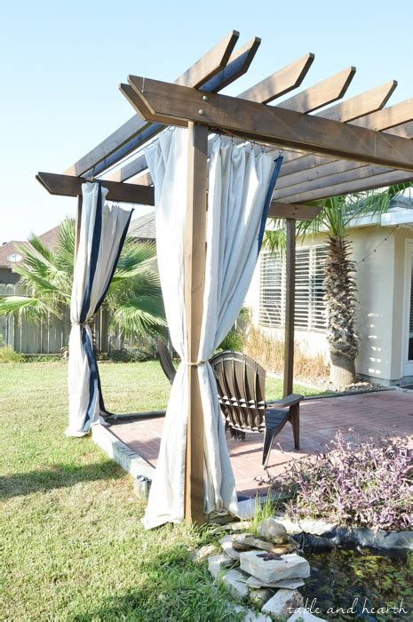 no sew outdoor curtains pergola curtains diy curtain menzilperde net