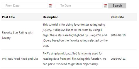 jquery datepicker format date mysql php mysql date range search with jquery datepicker