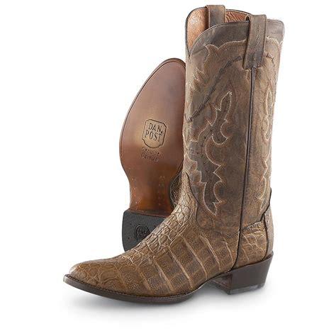 mens dan post boots s dan post 174 caiman western boots bay apache 181876