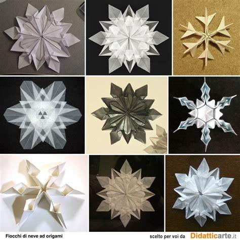 Origami Snowflake Pattern - origami fiocchi di neve snowflakes origami