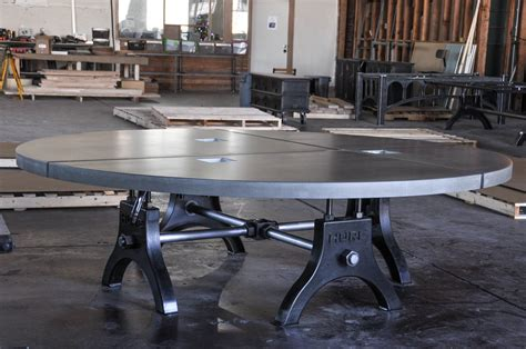 Concrete Conference Table Hure Conference Table Polished Concrete Top Model Hu25 Vintage Industrial Furniture
