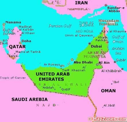 uae countries map dubai and abu dhabi all that glitters two and fro