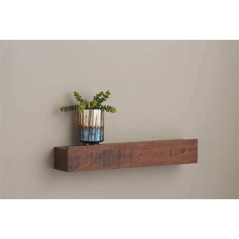 wall mounted shelves shop allen roth 24 in w x 4 5 in h x 3 88 in d wall mounted shelving at lowes