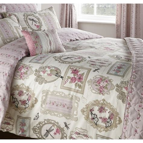 dreams n drapes pretty as a picture rose vintage duvet set