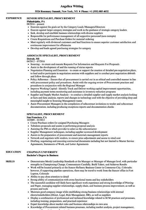 procurement financial analyst description exle