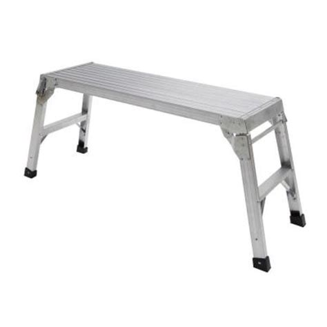 drywall bench home depot gorilla ladders 20 in aluminum work platform wp bf20 13 the home depot