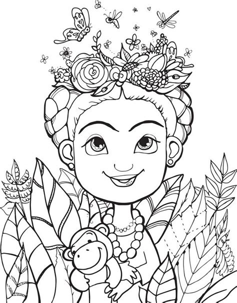 imagenes animadas surrealistas frida kahlo outline drawing buscar con google y