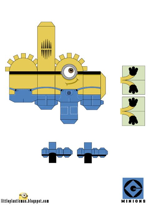 Minion Papercraft - minion paper template myideasbedroom