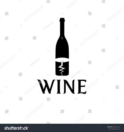 wine bottle corkscrew vector design template stock vector
