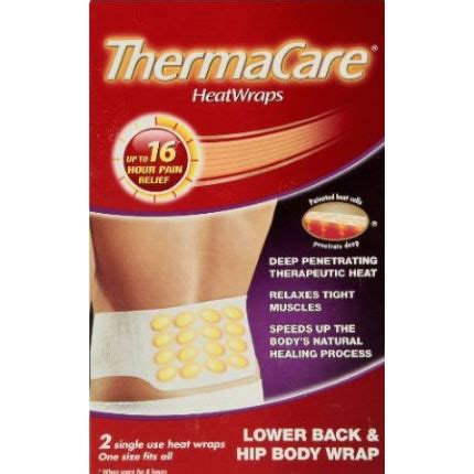 Detox Wrap Colorado Springs by Wiggle Thermacare Lower Back And Hip Wrap 2 Pack