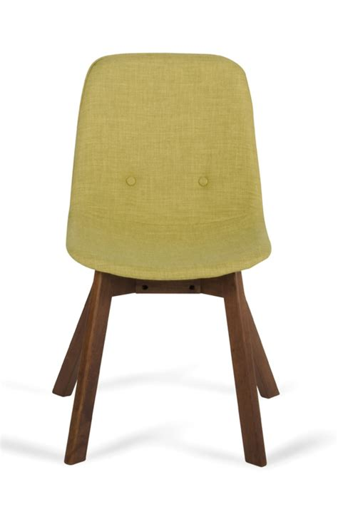 laken modern green tea walnut dining chair set of 2