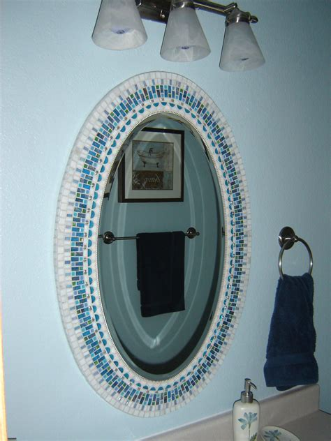 how to frame an oval bathroom mirror diy oval bathroom mirrors frame best decor things