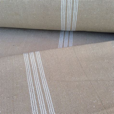 grain sack upholstery fabric grain sack fabric white stripes tan vintage inspired sold by