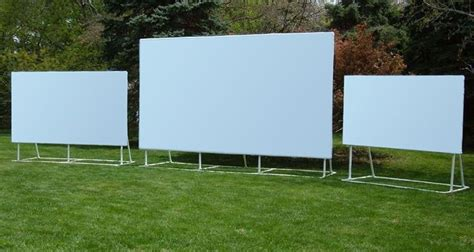 how to make an outdoor projector screen outdoor