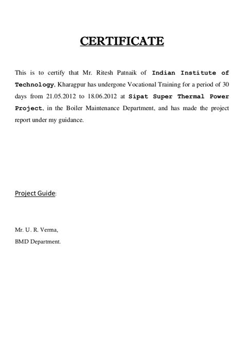 Experience Letter Of Electrical Engineer experience certificate sle of electrical engineer