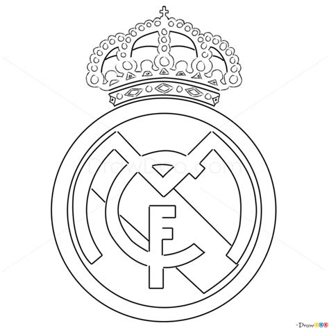 how to draw the real madrid logo using ballpoint pens drawn football football logo pencil and in color drawn