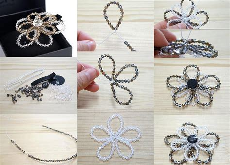 how to make a beaded flower necklace how to make beaded flower step by step diy