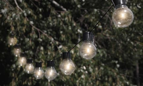 solar powered light string nitebulbs solar powered outdoor string lights groupon