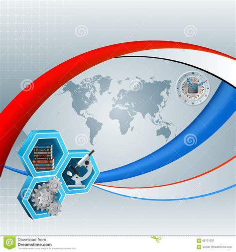 background knowledge design background with world map and knowledge translation in