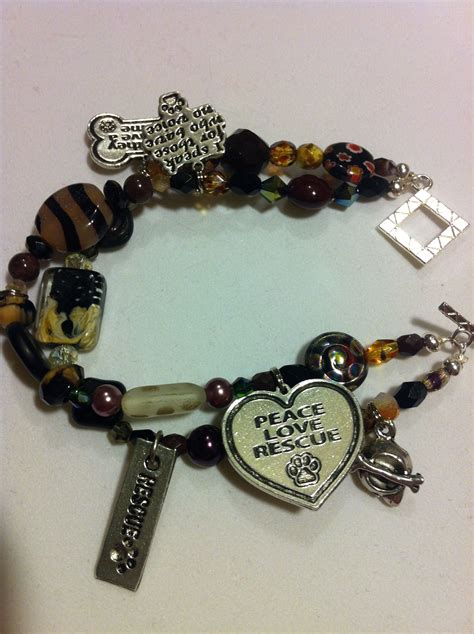 pug rescue columbus ohio rescue animal strand beaded bracelet made to order to support animal rescue and