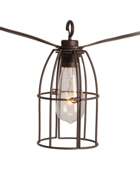 String Lights For Patio Home Depot The Home Depot Retro Caged Caf 233 String Lights 8l The
