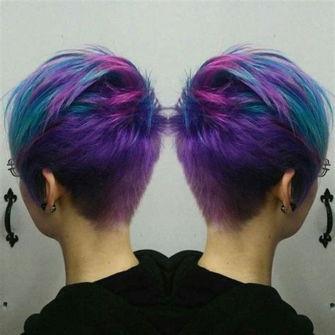 how to color pixie haircut really feeling this galaxy pixie by diriagoly use