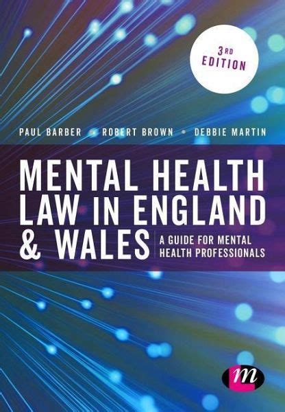 Mental Health Law In England And Wales Von Robert A Brown