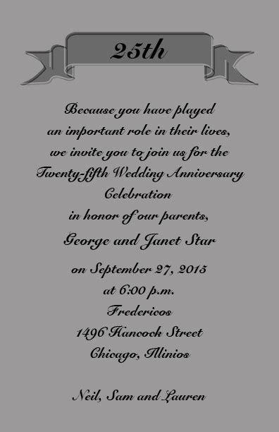 Wedding Anniversary Jubilee by Silver Jubilee Wedding Anniversary Invitation Cards Silver