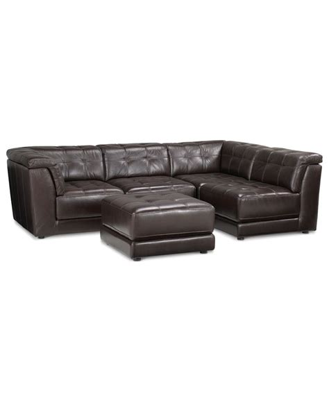 Stacey Leather Sectional Sofa 5 Piece Modular Pit 2 Modular Sectional Sofa Leather
