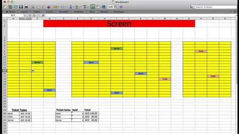 excel seating chart template theater ticket system with excel